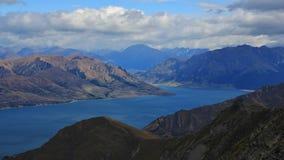 See Hawea und Berge der südlichen Alpen Stockfotografie