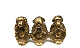 See, hear and speak no evil. See no evil, speak no evil, hear no evil monkey figurine royalty free stock photo