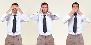 See, hear, speak no evil Stock Photos