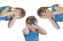 See, hear, speak no evil Royalty Free Stock Images