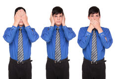 See Hear Speak No Evil - businessman Royalty Free Stock Image