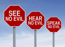 See, Hear, and  Speak No Evil Royalty Free Stock Images