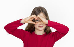 See with the heart Royalty Free Stock Photo