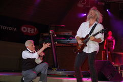 See Him Jam!:  Dennis DeYoung in Blue Ash Royalty Free Stock Photos