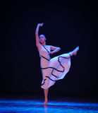 See the hope-Errand into the maze-Modern dance-choreographer Martha Graham. In December 19, 2014, Shi Feifei the dancer dance work session held in the South hall Royalty Free Stock Photos