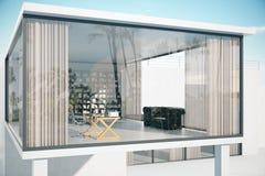 See-through house exterior Stock Photos