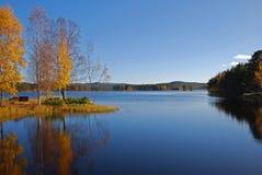 See im Herbst Lizenzfreies Stockbild