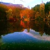 See im Herbst Stockbilder