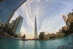 See in im Stadtzentrum gelegenem Dubai Stockfotografie
