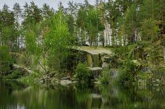 See im Wald Stockfoto