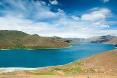 See innerhalb des Berges in Tibet Stockfotografie