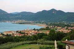 See Iseo, Italien lizenzfreies stockfoto