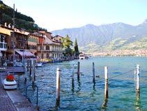See Iseo, Italien Stockfotografie