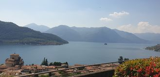 See Iseo-Morgen stockfoto
