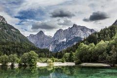 See Jasna nahe Kranjska Gora, Slowenien. lizenzfreie stockbilder