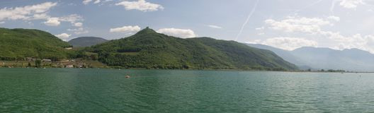 See Kaltern, Süd-Tirol, Italien stockfoto