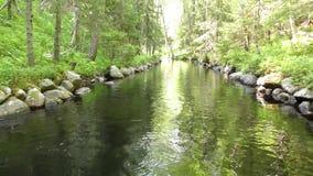 See-Kanalsystem auf der Insel Bolshoy Solovki stock video footage