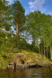 See in Karelien Stockbilder