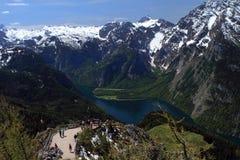 See Konigsee in Deutschland Lizenzfreies Stockfoto