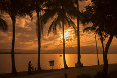 SEE-LANDSCHAFT THAILANDS PHAYAO lizenzfreies stockfoto