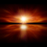 See The Light. Sky of Red Light - fractal landscape Royalty Free Stock Photos
