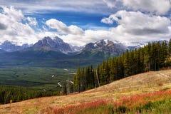 See Louise Ski Resort Gondola Summer, Banff NP Stockfotografie
