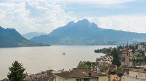 See Lucern in der Schweiz Stockfotografie