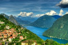 See Lugano Stockfoto