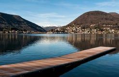 See Lugano, Ponte Tresa Stockfotografie