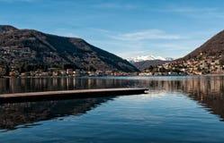 See Lugano, Ponte Tresa Stockbild