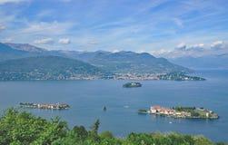 See Maggiore, borromean Inseln, Italien Lizenzfreies Stockfoto