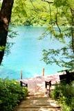 See magischer Fahrt Plitvice, Kroatien Lizenzfreie Stockfotografie
