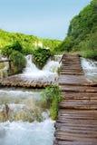 See magischer Fahrt Plitvice, Kroatien Stockbilder