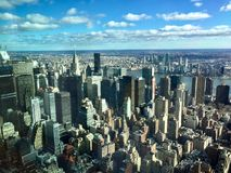 Manhattan view from the Empire State Building royalty free stock photography