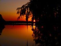 See-Martin-Sonnenuntergang stockfoto