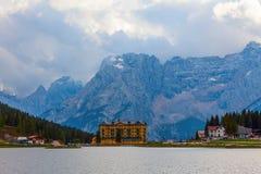 See Misurina, Italien stockbild