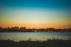 See mit einer Ansicht Lizenzfreies Stockbild