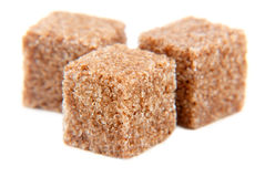 Cubes of sugar with cinnamon isolated Royalty Free Stock Image