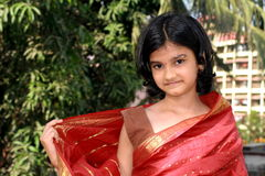 See my red saree Stock Photography
