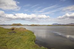 See Myvatn-Bereich in Nord-Island stockbild