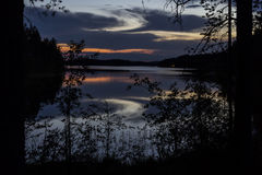 See nachts Stockfoto