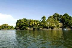 See Nicaragua auf einem Hintergrund ein aktiver Vulkan Concepción Lizenzfreie Stockbilder