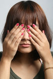 See no. Asian Beautiful lady in see no pose Stock Image