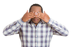 See no evil concept Stock Image