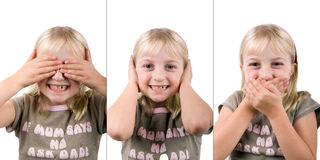 See No Evil, Hear No Evil, Spe Stock Photography