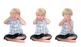 See no evil, Hear no evil, Speak no evil Stock Images