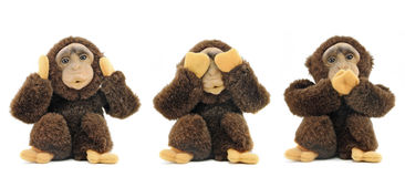See no evil, hear no evil, speak no evil ... Royalty Free Stock Photos