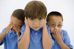 See No Evil Hear No Evil Speak No Evil stock photos