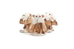 See no evil, hear no evil, speak no evil, Closing Ear, Eyes, Mouth Stock Images