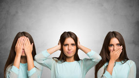 See no evil, hear no evil, speak no evil Stock Photography